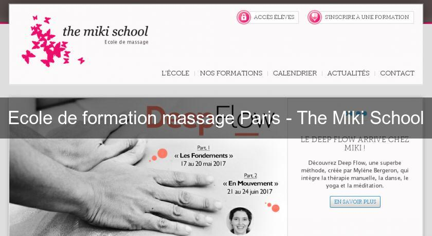 Ecole de formation massage Paris - The Miki School