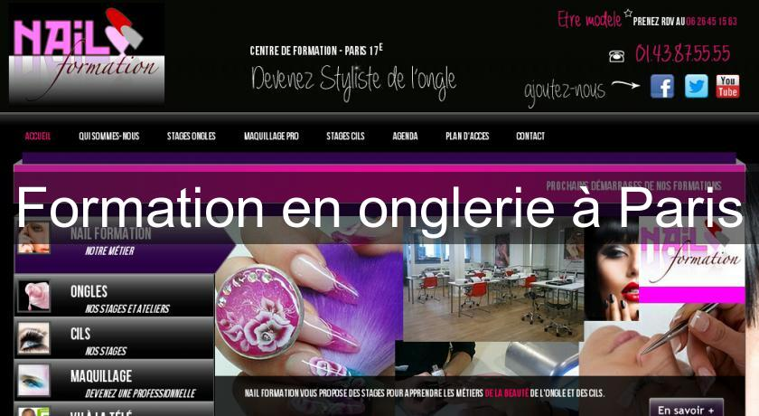 Formation en onglerie à Paris