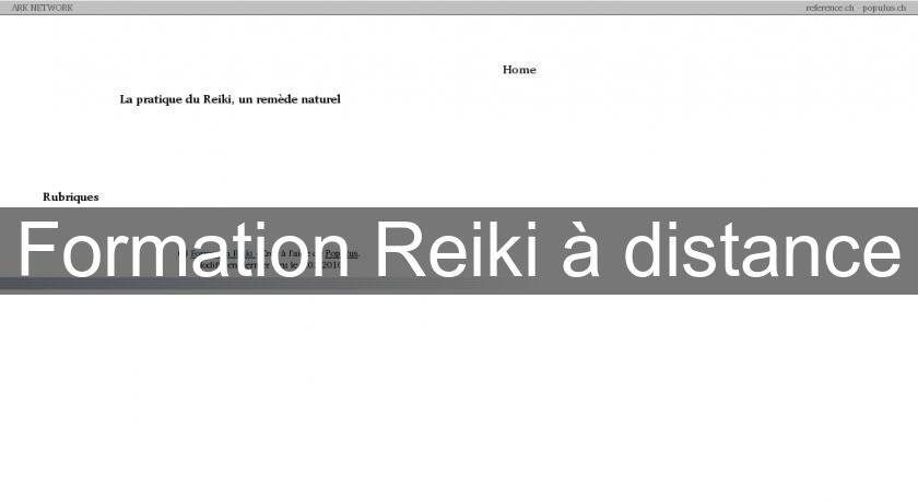 Formation Reiki à distance