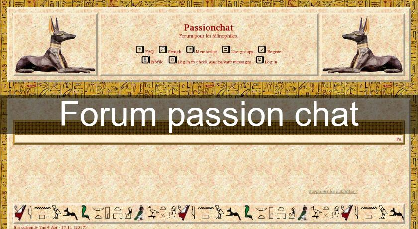 Forum passion chat