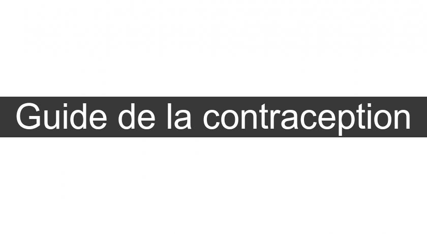 Guide de la contraception