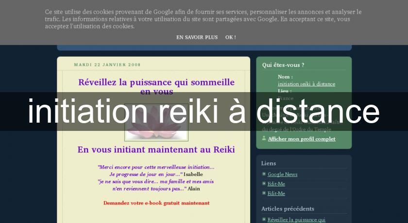 initiation reiki à distance