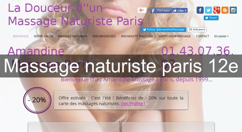 Massage naturiste paris 12e