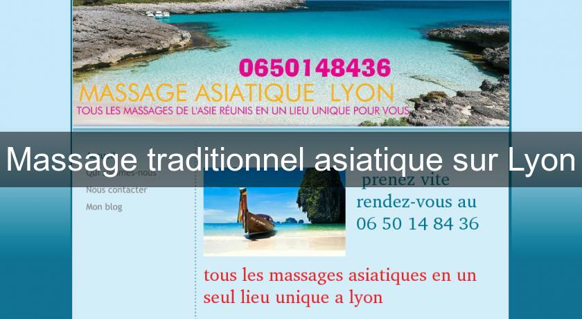 Massage traditionnel asiatique sur Lyon