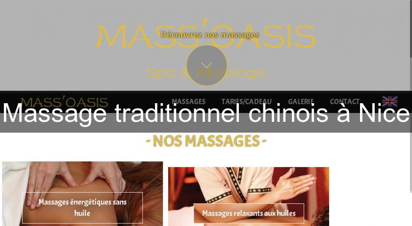 Massage traditionnel chinois à Nice