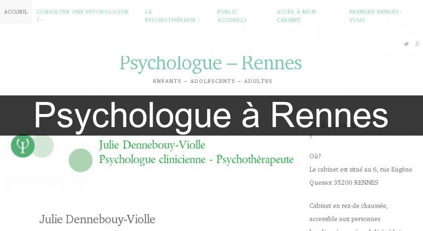 Psychologue à Rennes