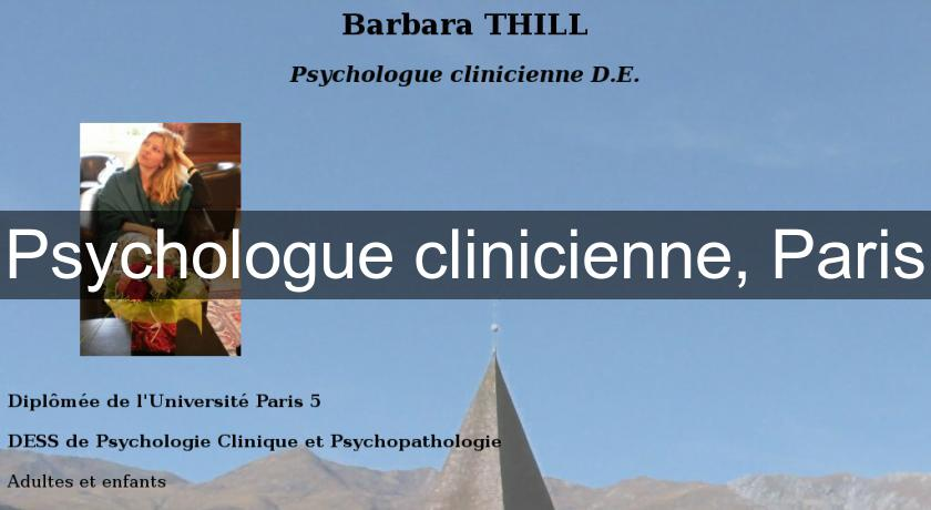 Psychologue clinicienne, Paris