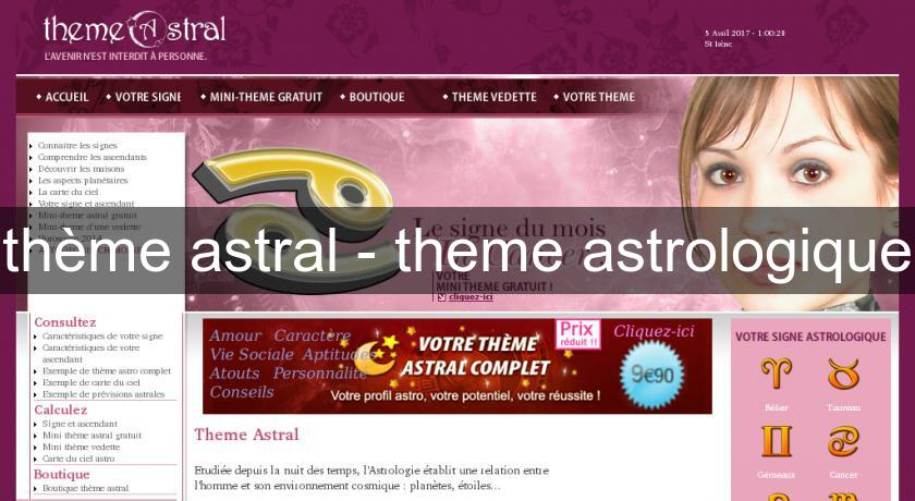 th me astral theme astrologique astrologie. Black Bedroom Furniture Sets. Home Design Ideas