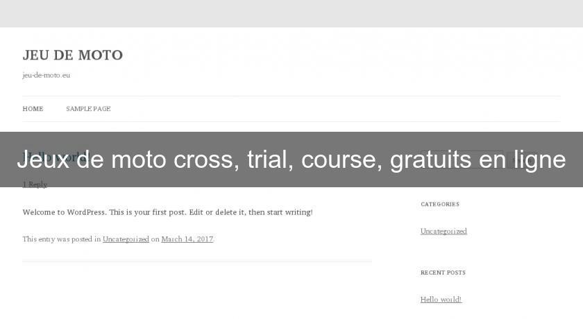 Jeux de moto cross trial course gratuits en ligne flash java - Jeux de coide et de moto gratuit ...