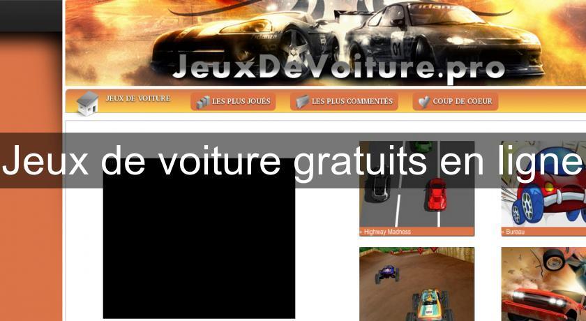 Jeux de voiture gratuits en ligne flash java - Jeux de garage de voiture gratuit en ligne ...
