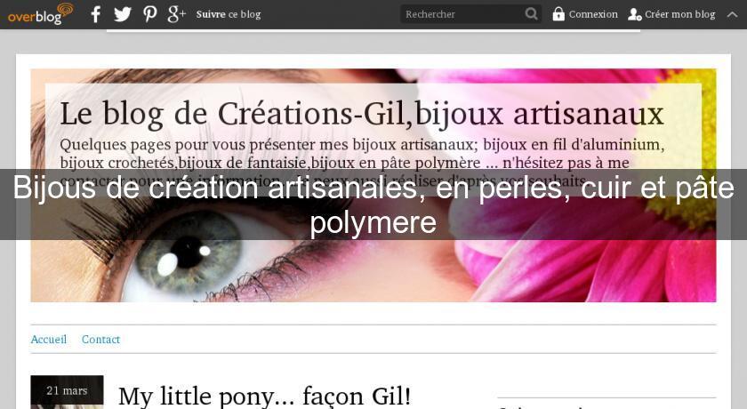 Bijous de cr ation artisanales en perles cuir et p te - Magasins creation et loisirs ...