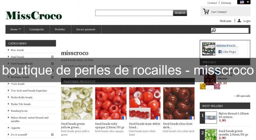 Boutique de perles de rocailles misscroco cr ation for Boutique loisirs creatifs paris
