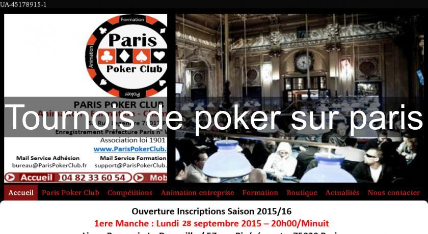 tournois de poker casino paris