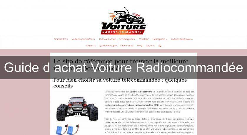 guide d 39 achat voiture radiocommand e voiture. Black Bedroom Furniture Sets. Home Design Ideas