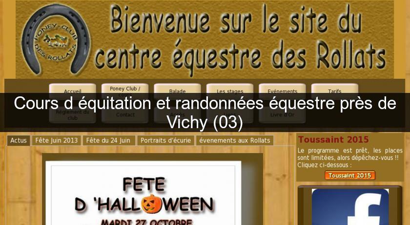 Cours d 39 quitation et randonn es questre pr s de vichy 03 equitation - Cours de cuisine vichy ...