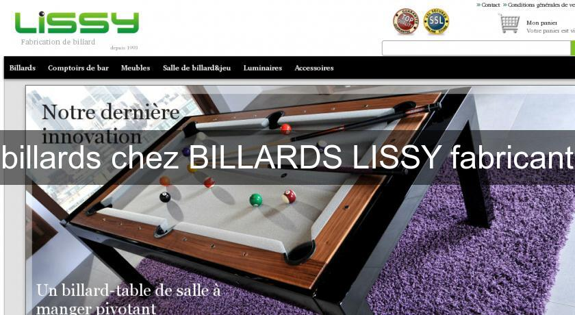 billards chez BILLARDS LISSY fabricant