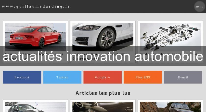 actualités innovation automobile