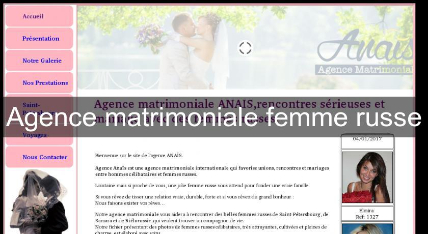 Agence matrimoniale femme russe