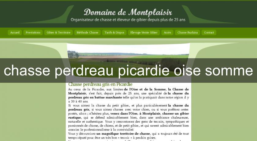 chasse perdreau picardie oise somme