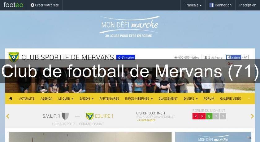 Club de football de Mervans (71)