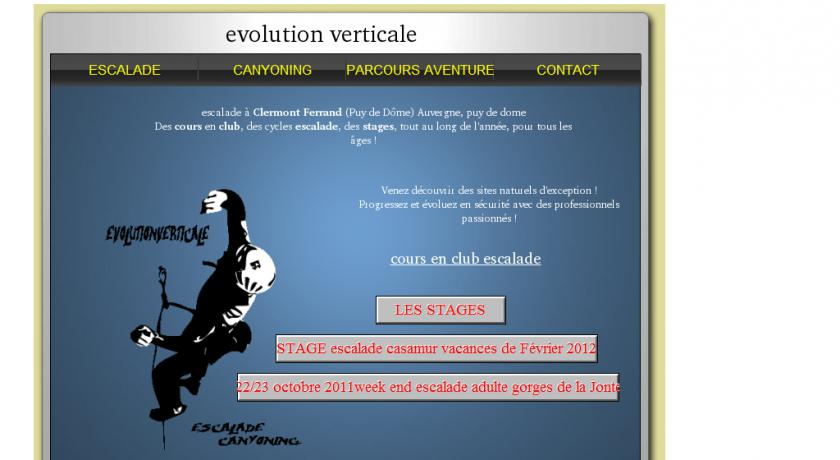 Escalade Auvergne evolution verticale