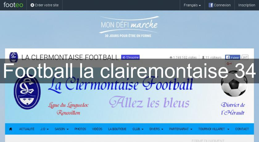 Football la clairemontaise 34