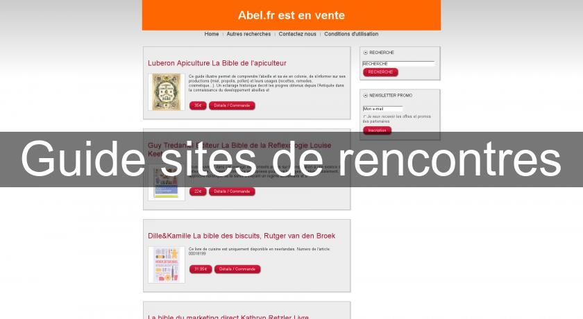 Guide sites de rencontres