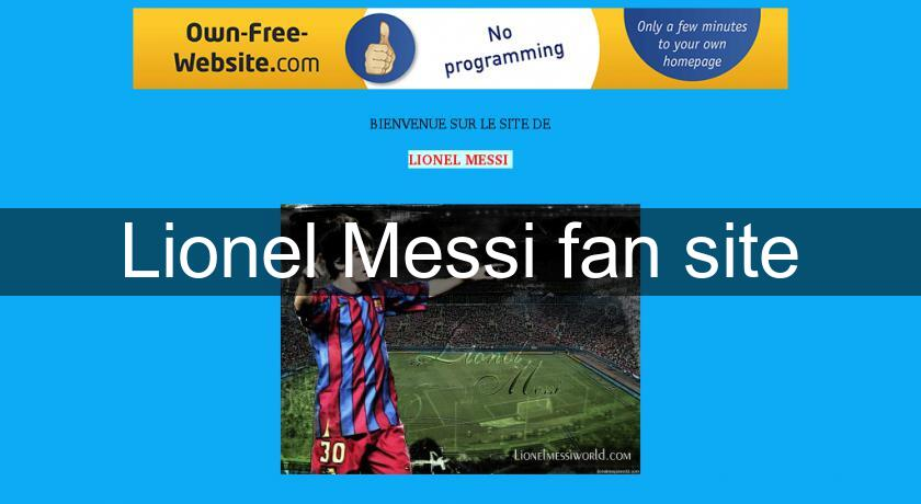 Lionel Messi fan site