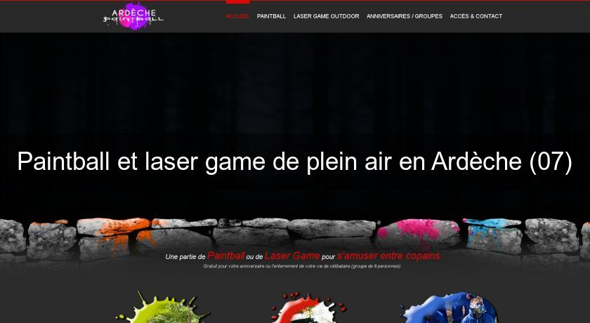Paintball et laser game de plein air en Ardèche (07)