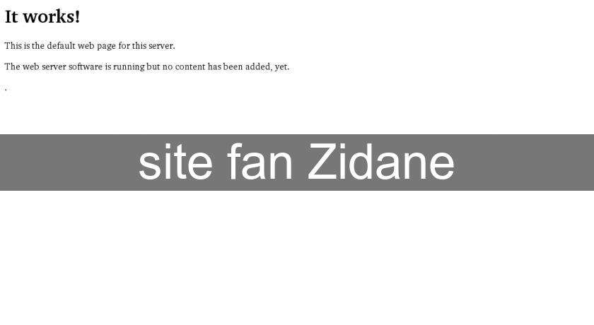 site fan Zidane