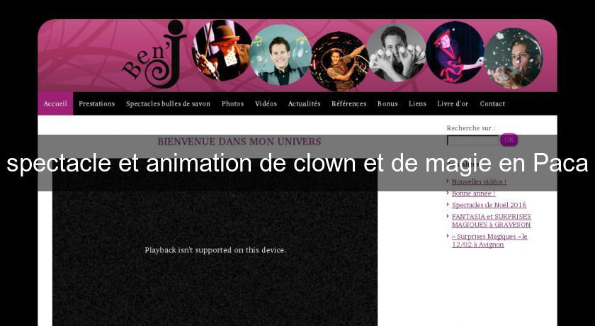 spectacle et animation de clown et de magie en Paca