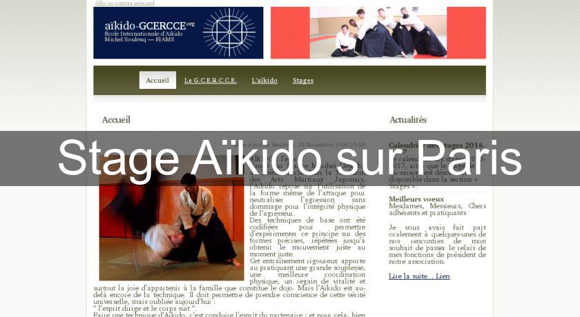 Stage Aïkido sur Paris