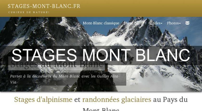 STAGES MONT BLANC
