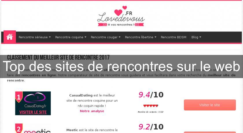 Top des sites de rencontres sur le web