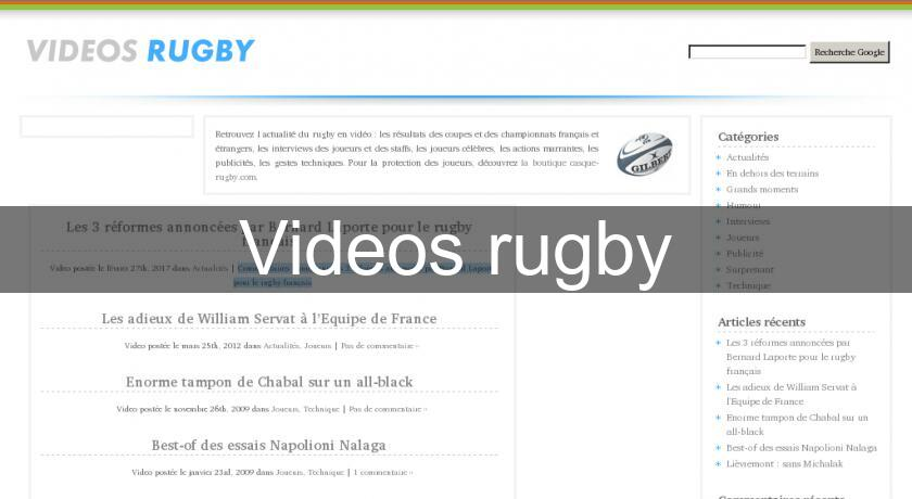 Videos rugby