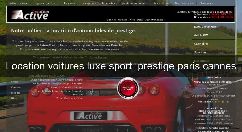 location voitures luxe sport prestige paris cannes location voiture v hicule. Black Bedroom Furniture Sets. Home Design Ideas