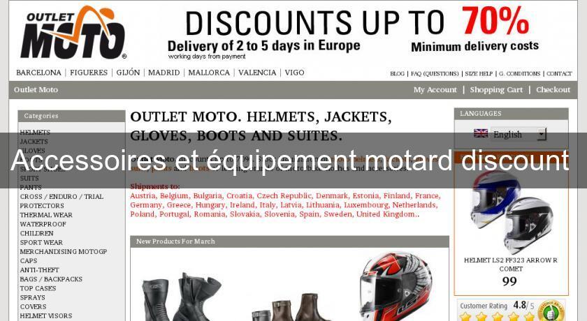 equipement motard discount