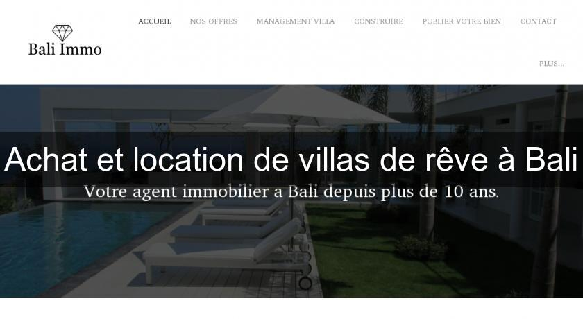 achat et location de villas de r ve bali annonces immobilieres. Black Bedroom Furniture Sets. Home Design Ideas