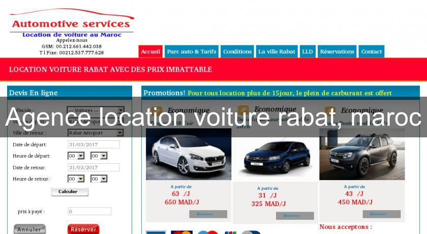 Agence location voiture rabat maroc location voiture for Location agence