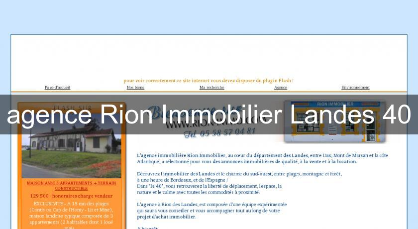 agence Rion Immobilier Landes 40
