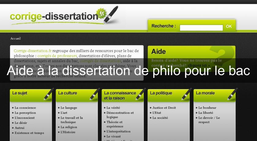 Aide a la dissertation