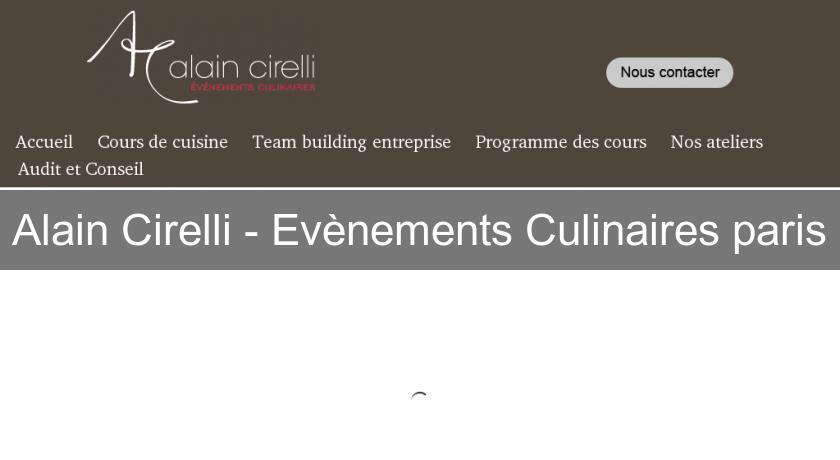 Alain Cirelli Evenements Culinaires Paris Cours De Cuisine