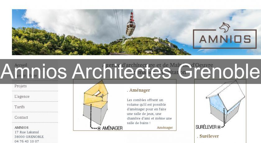 Amnios Architectes Grenoble