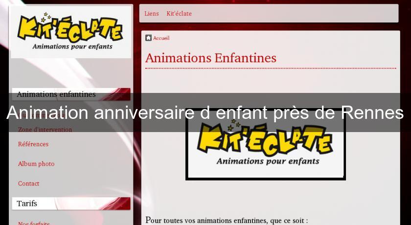 animation anniversaire rennes