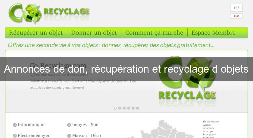 annonces de don r cup ration et recyclage d 39 objets bons plans. Black Bedroom Furniture Sets. Home Design Ideas