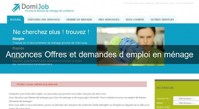 Cherche emploi en algerie femme de menage