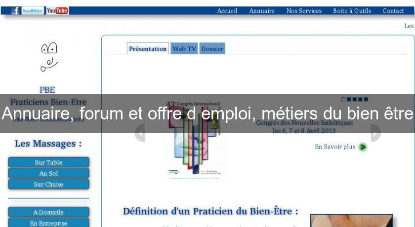Annuaire forum et offre d 39 emploi m tiers du bien tre for Offre d emploi commis de cuisine paris