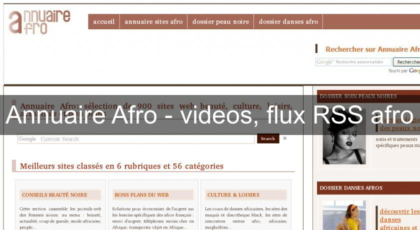 Annuaire Afro - videos, flux RSS afro