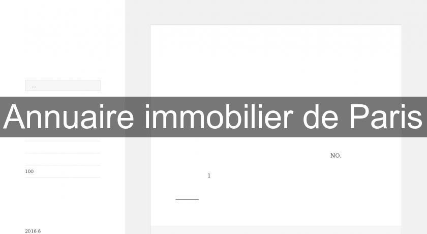 Annuaire immobilier de paris r seaux immobilier for Annuaire architecte paris
