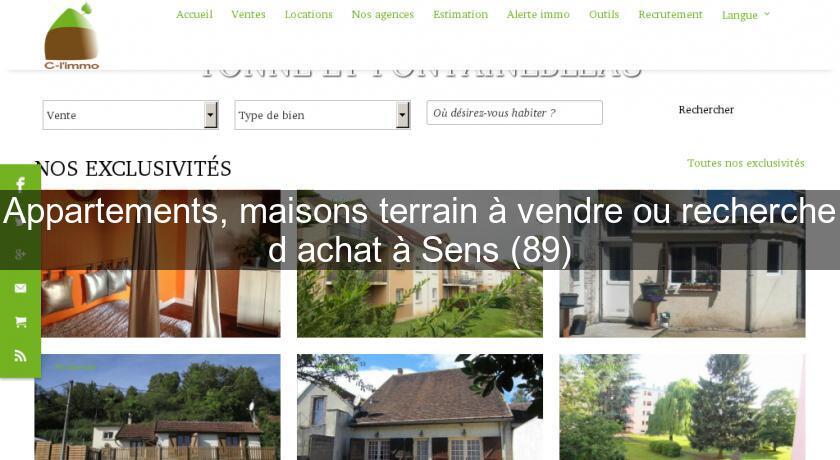 Appartements maisons terrain vendre ou recherche d for Recherche appartement ou maison a louer